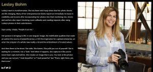 Lesley Bohm About page