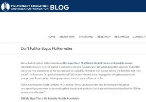 PERF article - bogus flu remedies