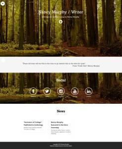 Nancy Murphy Writer website screenshot