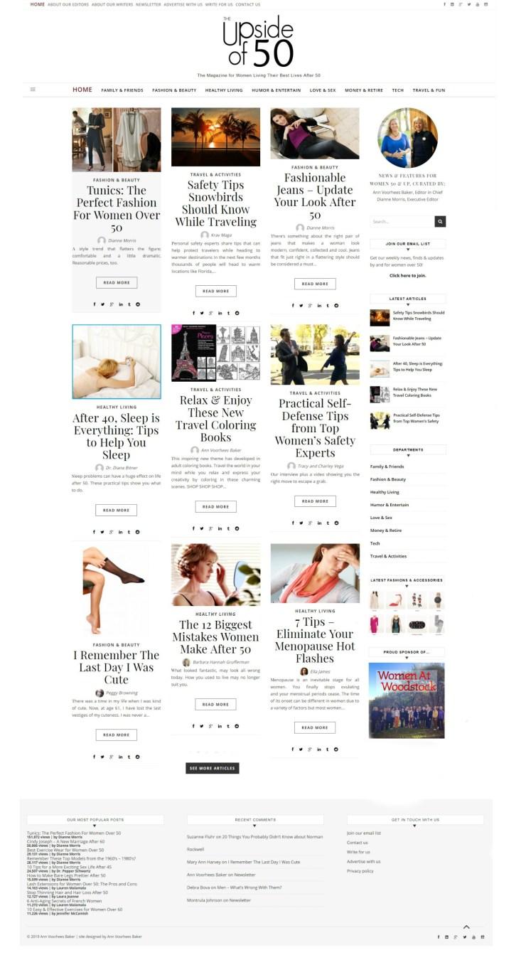 upside of 50 website screenshot