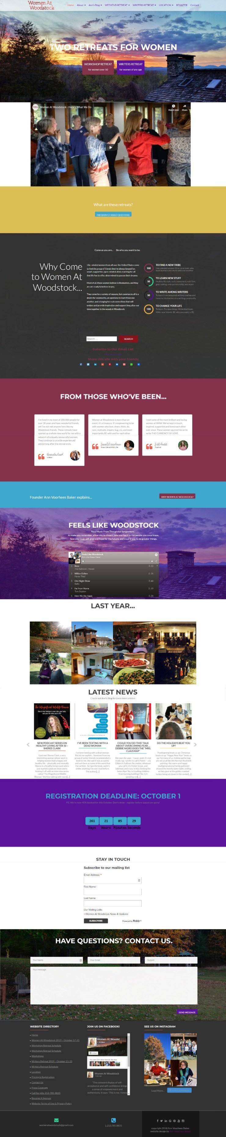 Women At Woodstock website screenshot