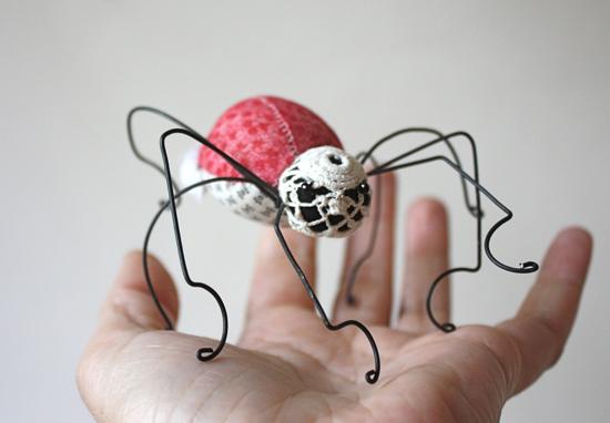pink bustled spider