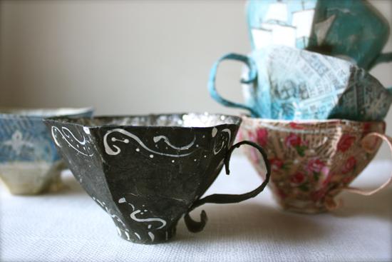 paper mache teacup pattern – ann wood handmade