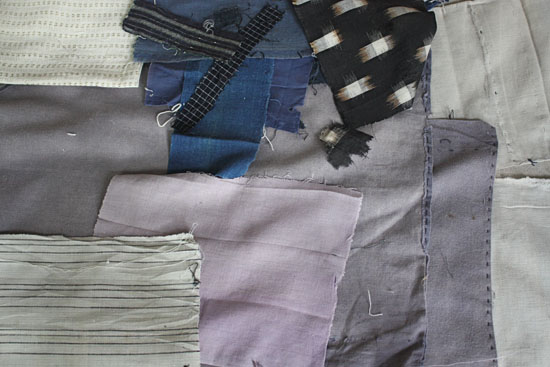purplish grey antique japanese textiles