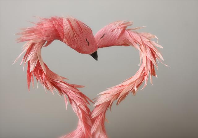 valentine flamingos
