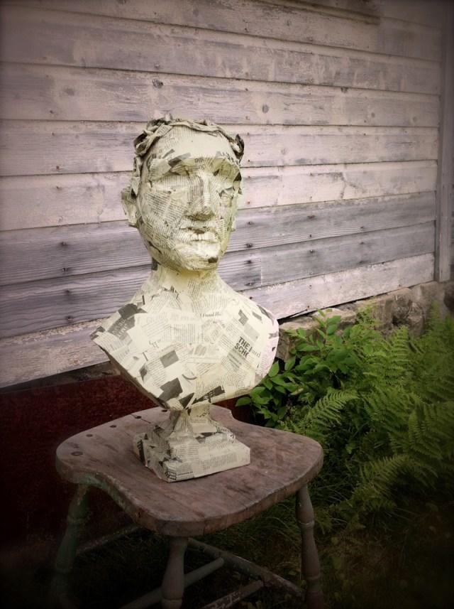 paper mache bust