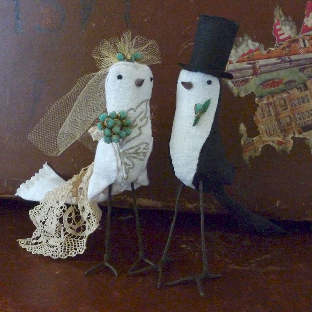 cake topper birds by joan