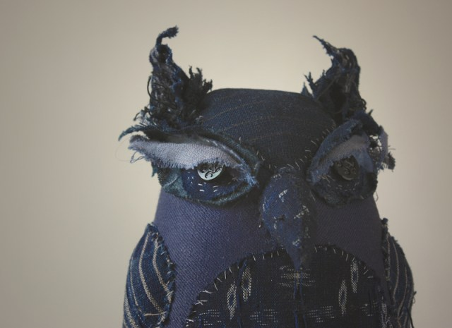 soft sculpture indigo owl