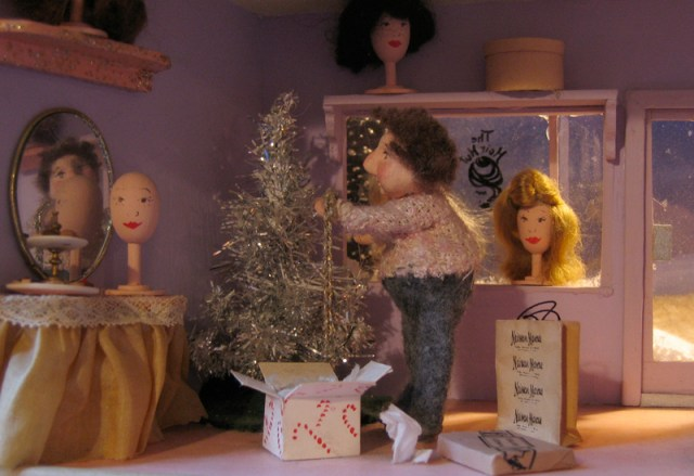 hair hut diorama