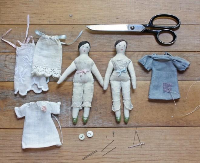 tiny rag dolls