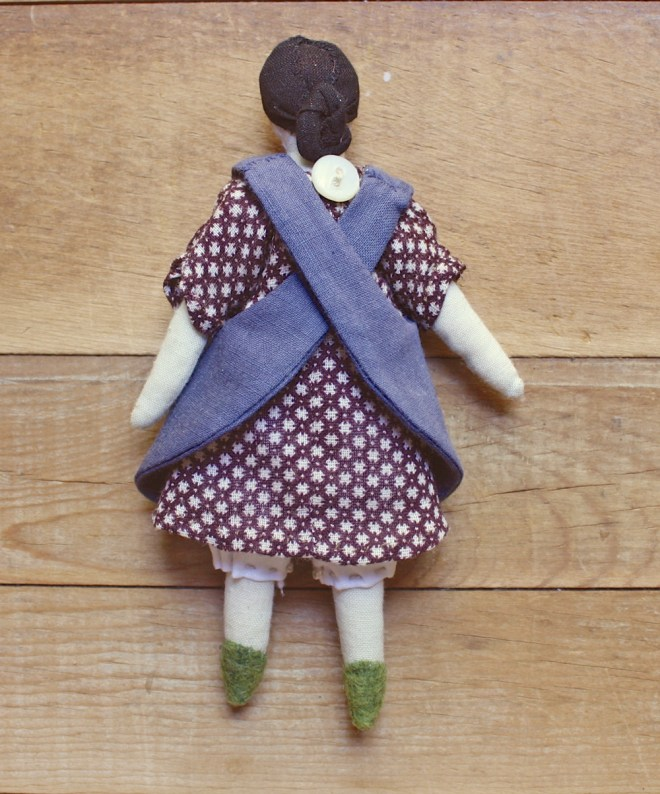 tiny rag doll pinafore