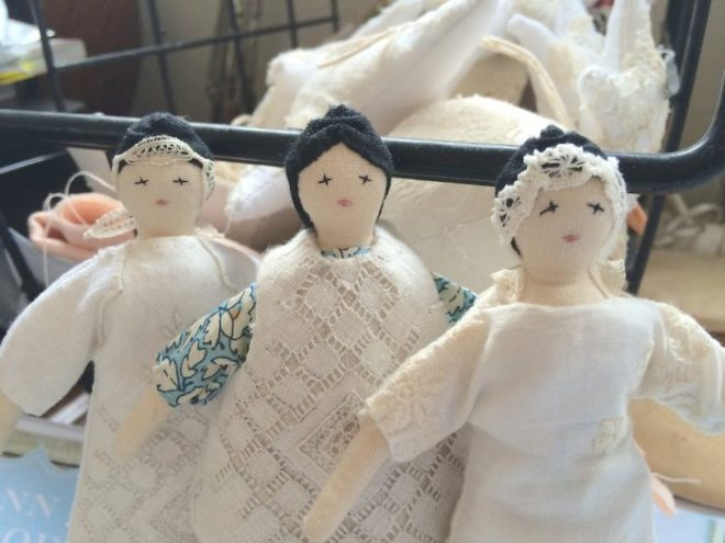 tiny rag dolls by karen