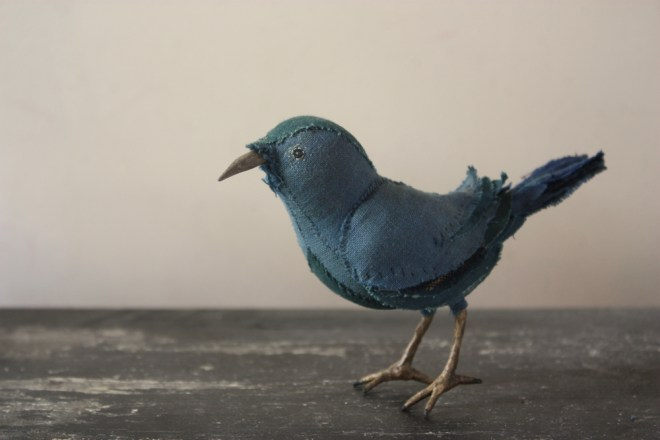 teal nuthatch : stitched songbird