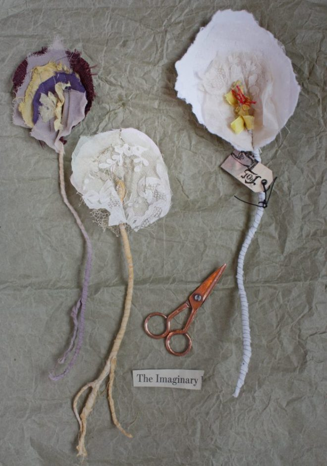 abby : paper and fabric flowers