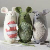 very nice mice : free sewing pattern