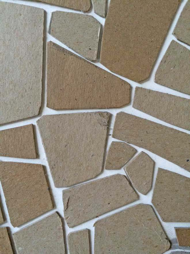 cardboard flagstone