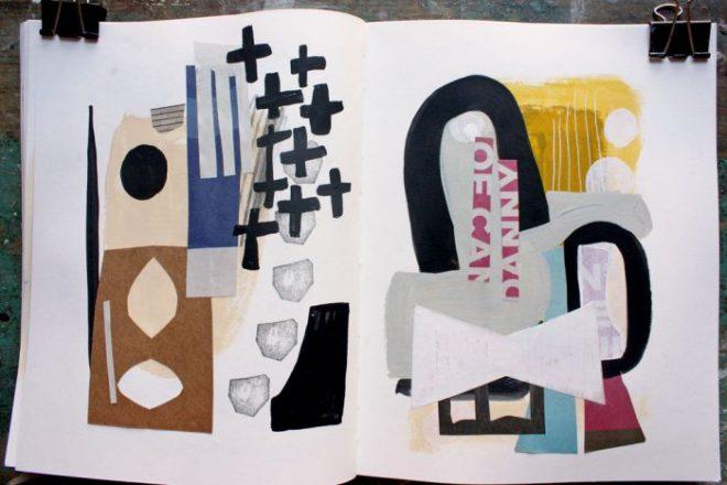 ann wood sketchbook : collages