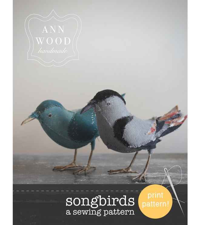 bird sewing pattern booklet