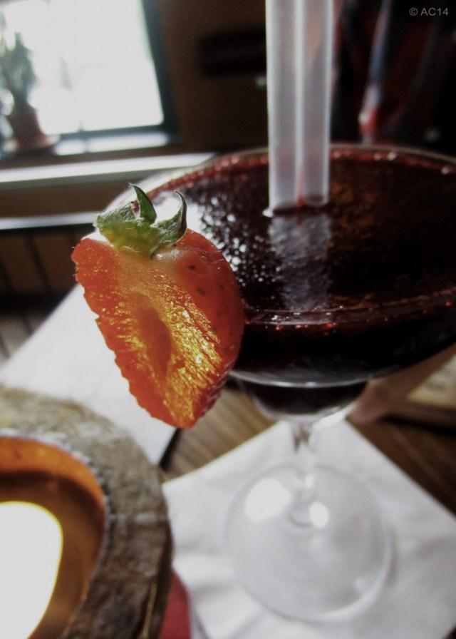 Cocktail mit Erdbeere
