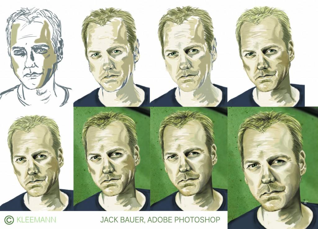Mein bisher wohl größtes Photoshop-Projekt: Jack Bauer im Porträt