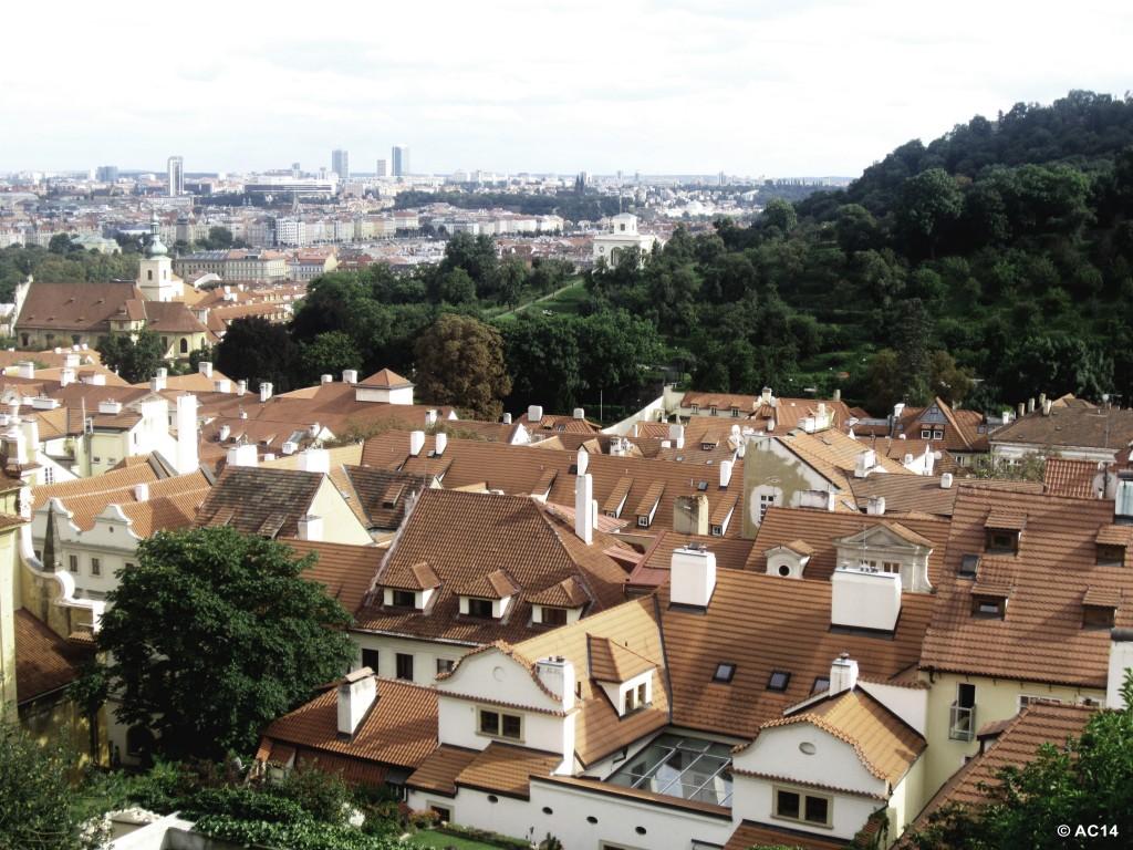 Ausblick über Prag - malerisch