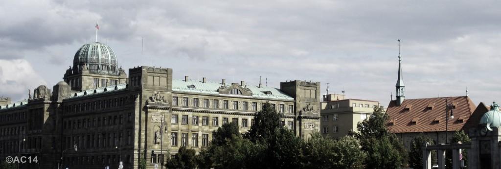 Moldau-Ufer Bauten