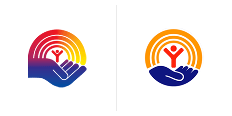 Saul Bass logo United Way 1972