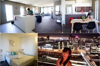 【澳洲自由行】墨爾本CBD住宿推薦 ♥ 高樓層夜景超優 短期住宿公寓