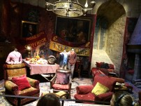Inside the Gryffindor common room. They also had the fireplace and the boy's dormitory on display.