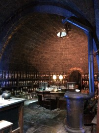 The potions classroom. Mannequins of both Snape and Slughorn were on display here as well.