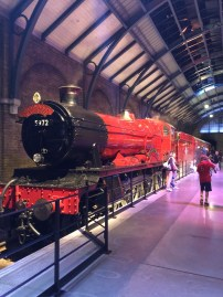And the magnificent Hogwarts Express. We got to walk inside and see some of the carriages decorated differently by film.