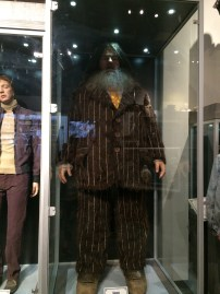 A life-size Rubeus Hagrid, to show just how big they made him. (Don't talk to me about Fred over there on the left; I'll start crying again...)