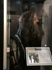 So the interesting thing about Hagrid is that for many shots, Robbie Coltrain would be inside the giant suit with a fake head on top of him. Only when they needed to focus on his face during a line would Coltrain be dressed up outside of the suit (with forced perspective camera work to make him appear larger).