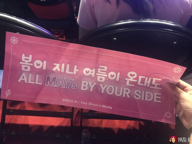Park Ji Hoon in Manila Show Banner