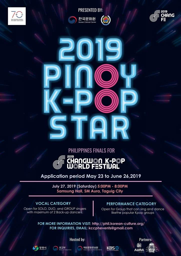 Are You A Singer And Or Dancer Join Now In 2019 Pinoy K Pop Star As They Extend Application Period Annyeong Oppa