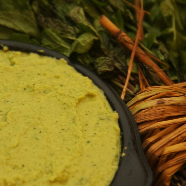 green hummus & mint
