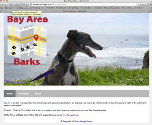 screenshot for responsive Bay Area Barks