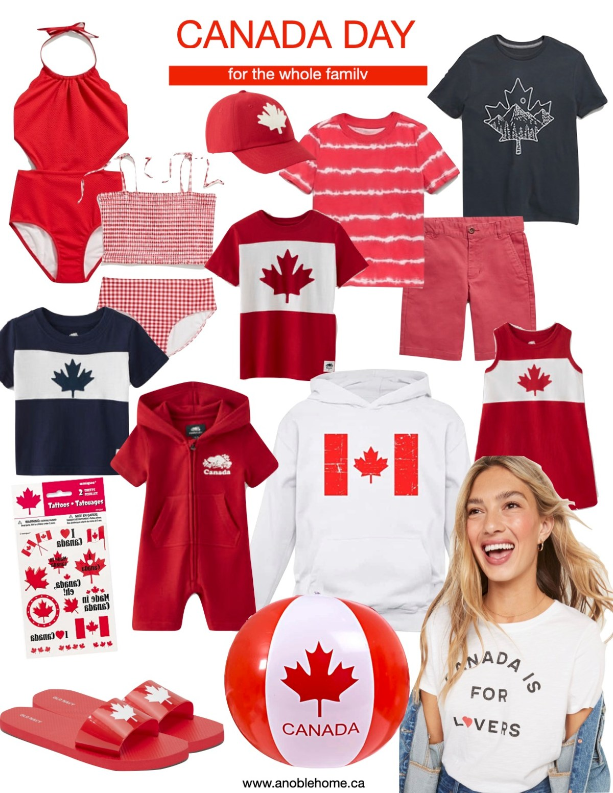 Canada Day Gear for the Whole Family