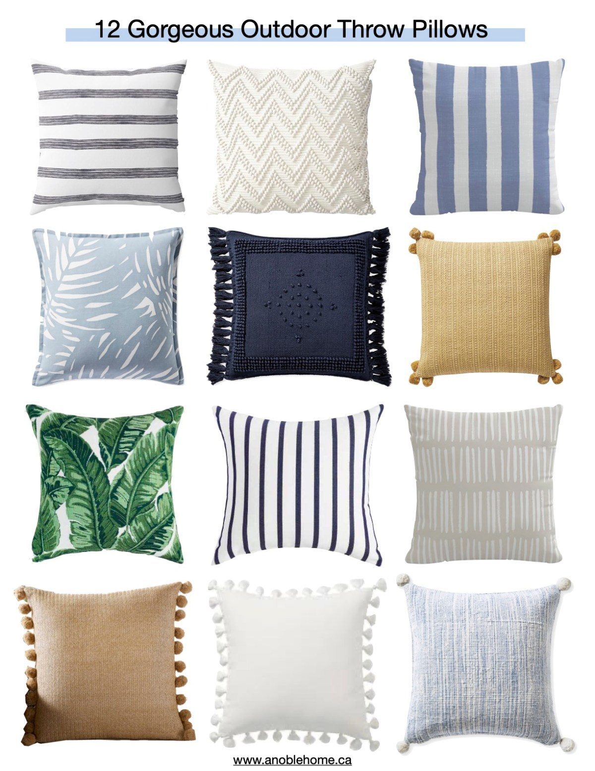Outdoor Throw Pillow Round-up