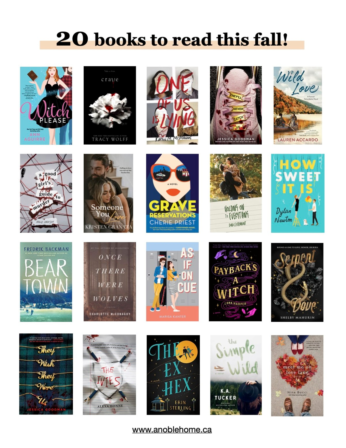 20 books to read this fall!