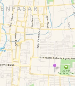 Location of Immigration Office in Denpasar - Jalan Panjaitan.