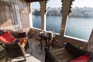 Lake Pichola Hotel, Terrace View onto the Lake