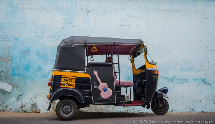 The only way to get around the streets of India - in an auto-rickshaw.