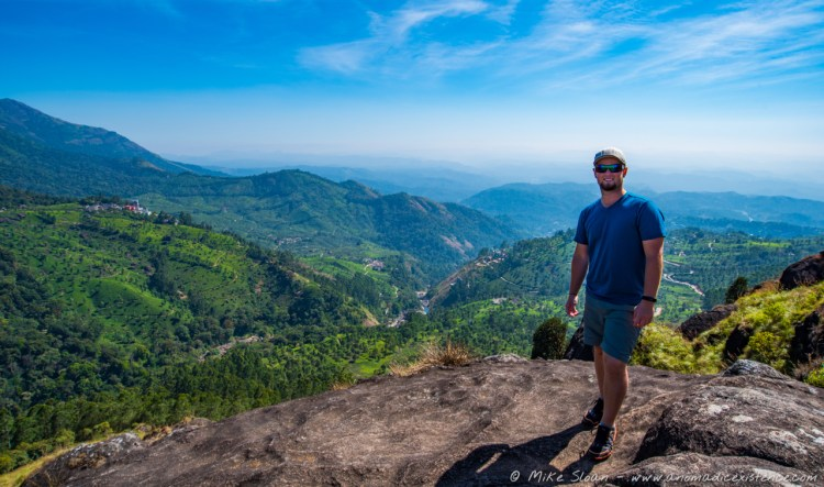 Vantage point over Munnar during our trek - you could see for miles!