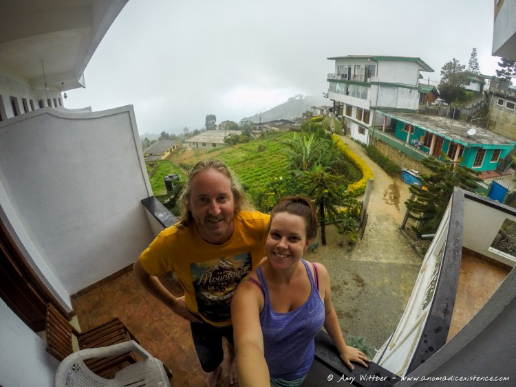 Greg and I in Haputale. He was a big fan of my selfie stick.... not.