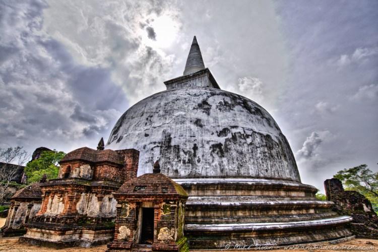 Kiri Vahara Dagoba, Ancient City of Polonnaruwa, UNESCO World Heritage Site, Cultural Triangle, Sri Lanka, Ceylon