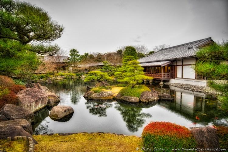 Samurai quarters and gardens.