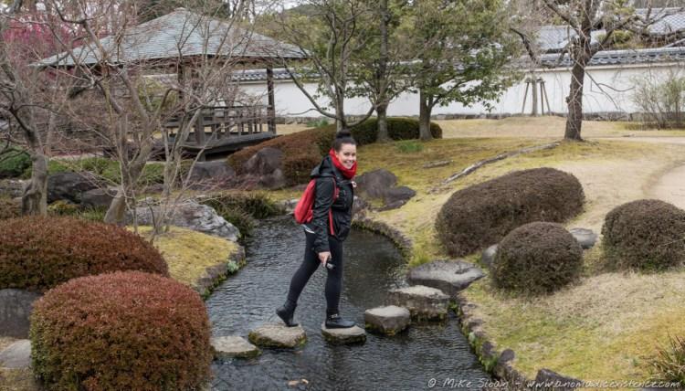 Exploring the samurai gardens of Koko-en.