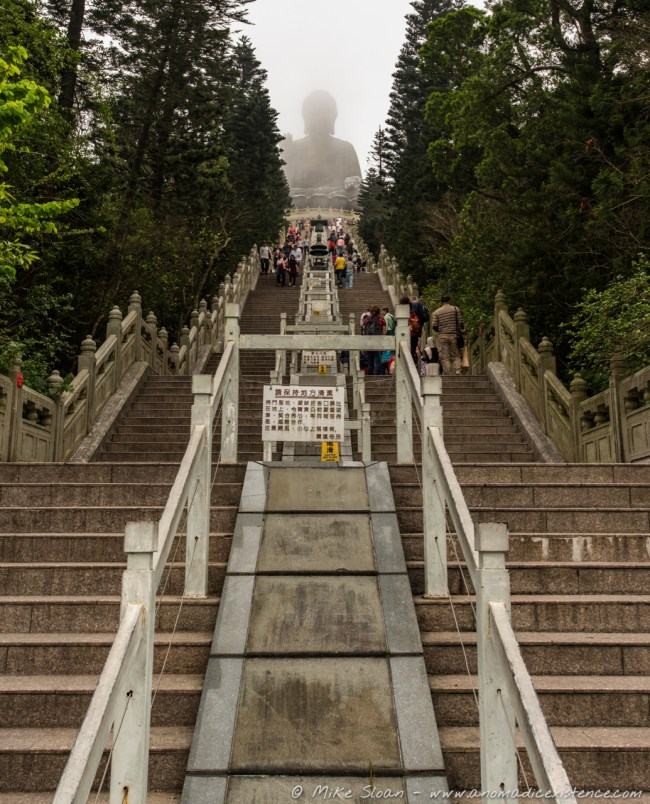 The Tian Tan Buddha from the bottom of 268 steps...