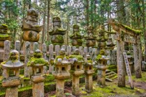 Tombstones, Okunoin, Koya-san, Wakayama, Japan